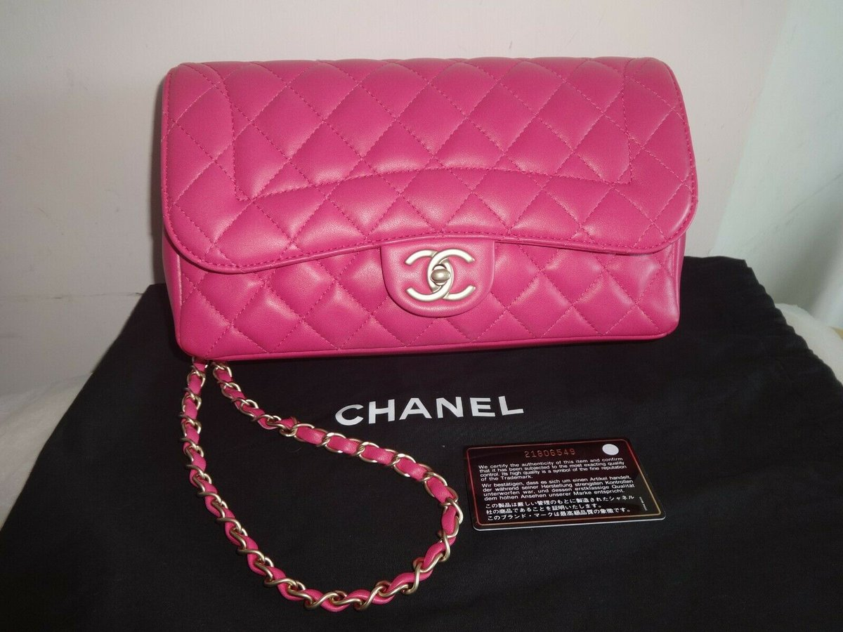 #Chanel #Quilted #Medium #Mademoiselle #Chic #Flap #Bag #Gold #Hardware #Excellent