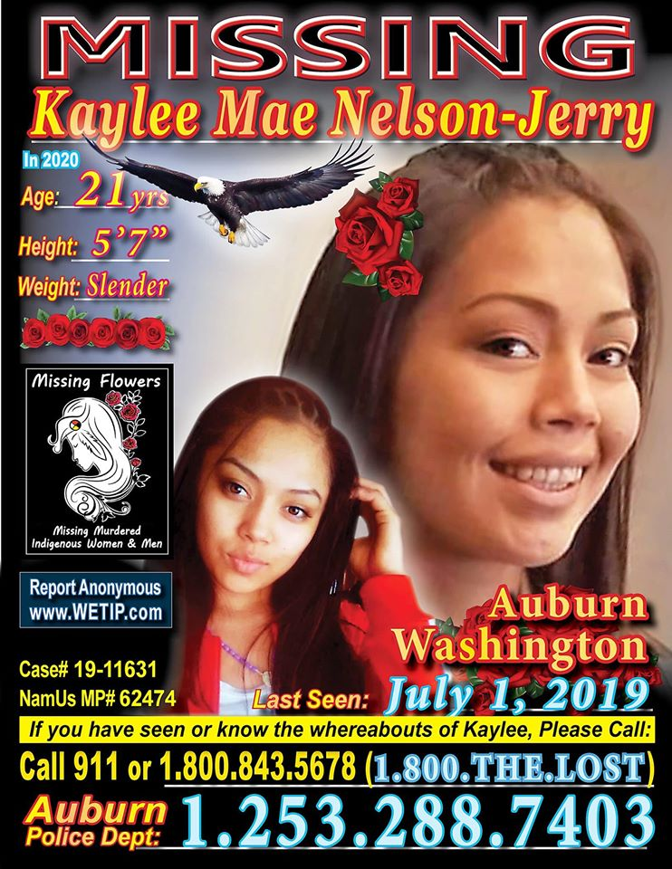 🌹WASHINGTON Kaylee Mae Nelson-Jerry #Missing from #auburn #WA 🌹If you have any information on the whereabouts of Kaylee please call the Auburn Police Department at (253)288-7403. #MissingFlowersMMIWM 🌹🙏🏽