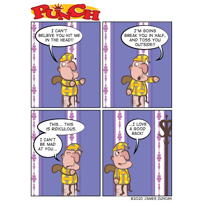 Bad joke.  #punch #punchandjudy #comic #comicstrip #art #dailyart #puppet #comics #comicstrips #webcomic #webcomics