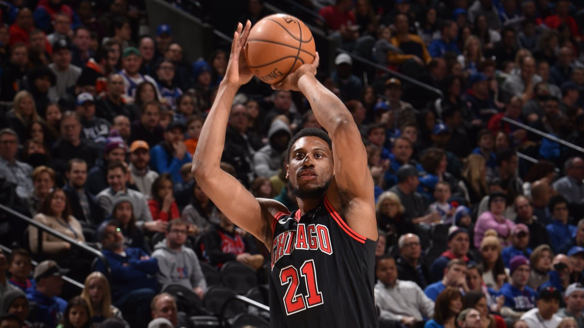 Thad Young has hit 4 triples already tonight, his high as a Chicago Bull.