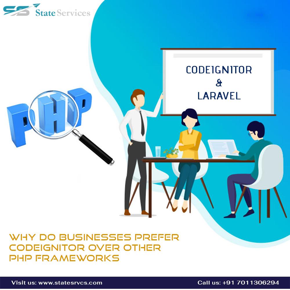Why do Businesses Prefer Codeignitor Over Other PHP Frameworks Visit here: https://bit.ly/30EMuXu  #StateServices #DigitalMarketing #WebDesign #SMO #SMM #PPC #websitedesigning #WebDevelopment #WebsiteDesign #websitedevelopment #WebDesignDelhi #Seo #SocialMedia #PayPerClickpic.twitter.com/kAm55DZsBt