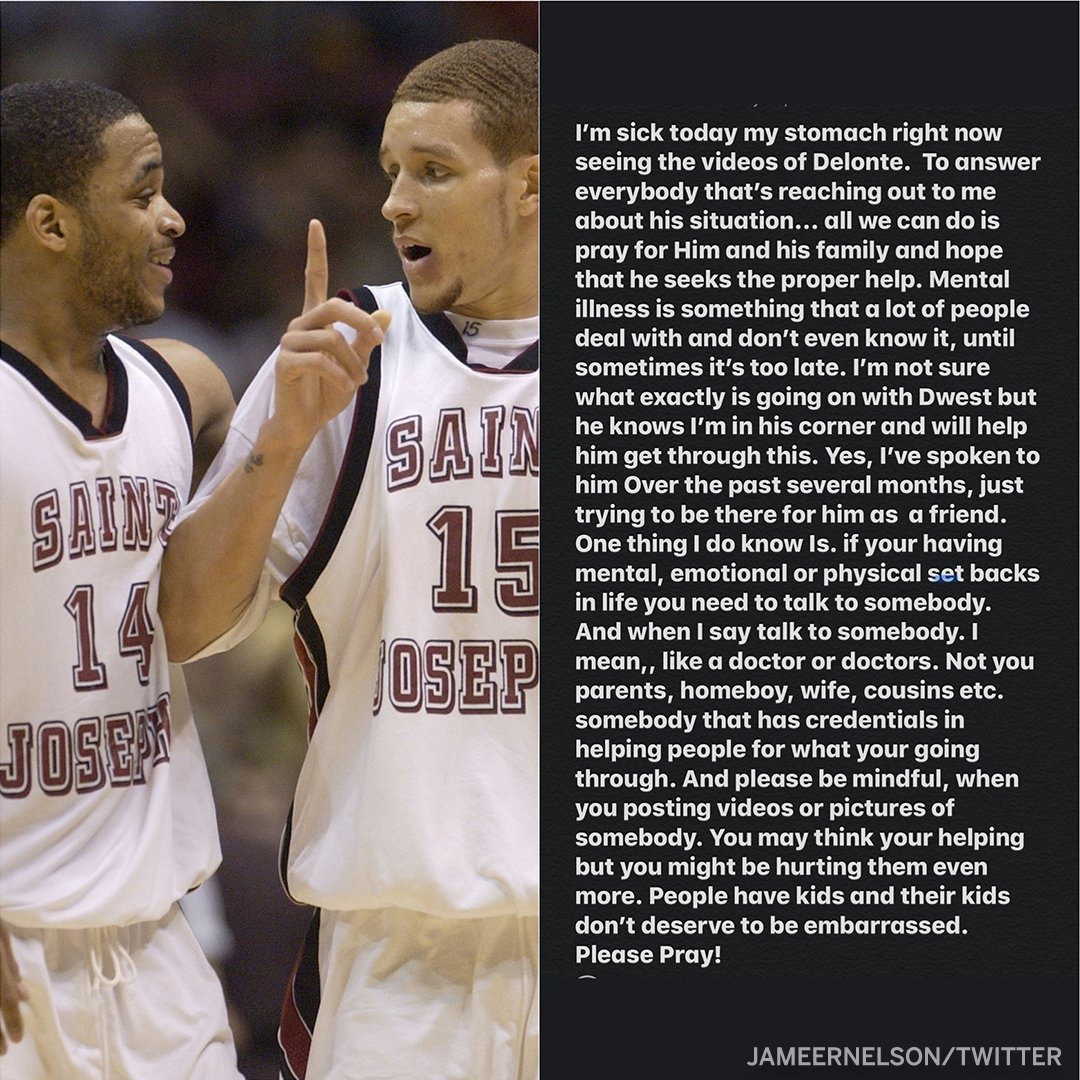 Jameer Nelson speaks on his friend and former college teammate, Delonte West.