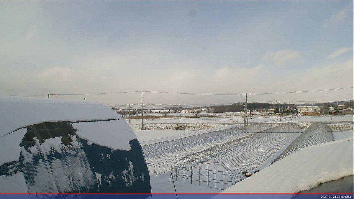 ラズベリーパイより、1月21日14時0分の空模様と気温 -2.500℃ #raspberrypi #python #fswebcam #photo #北海道 #オホーツク #イマソラ