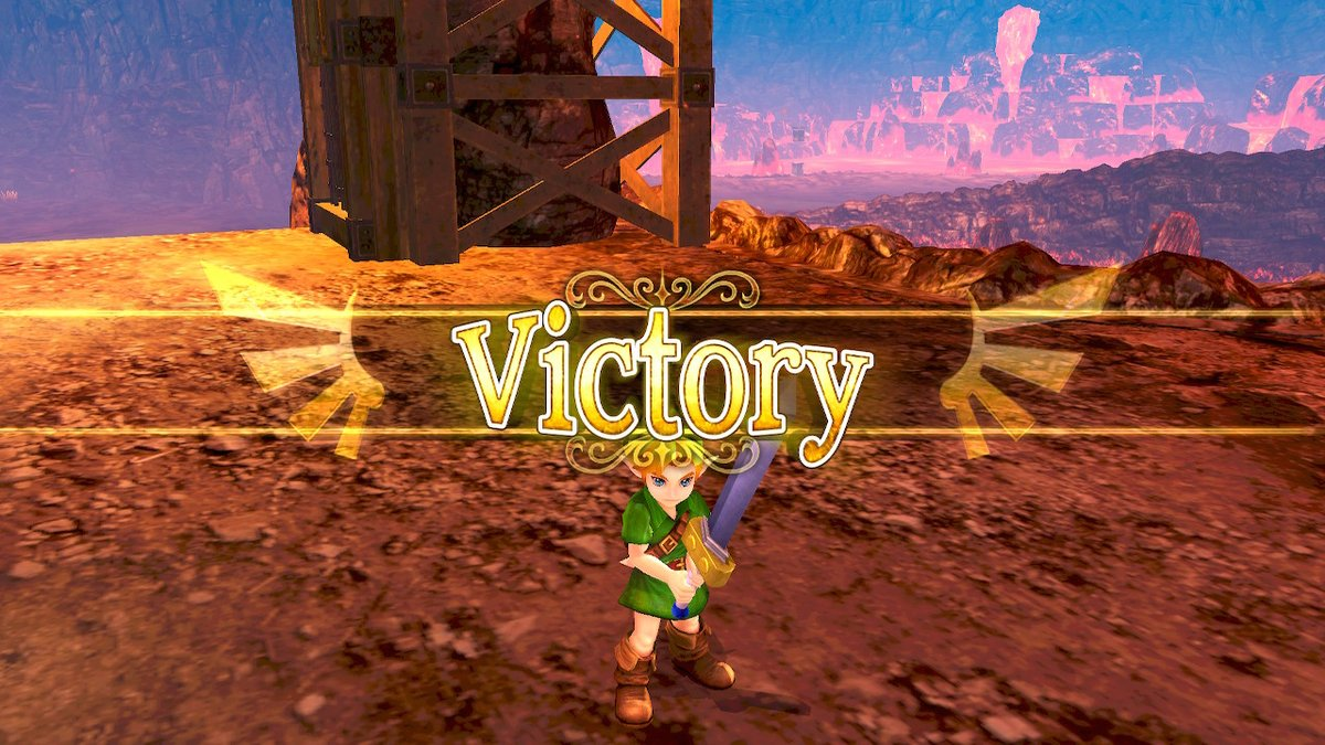 he's so tiny he fits bellow the victory sign im soft #HyruleWarriors #NintendoSwitch<br>http://pic.twitter.com/wgu4mfN5RO