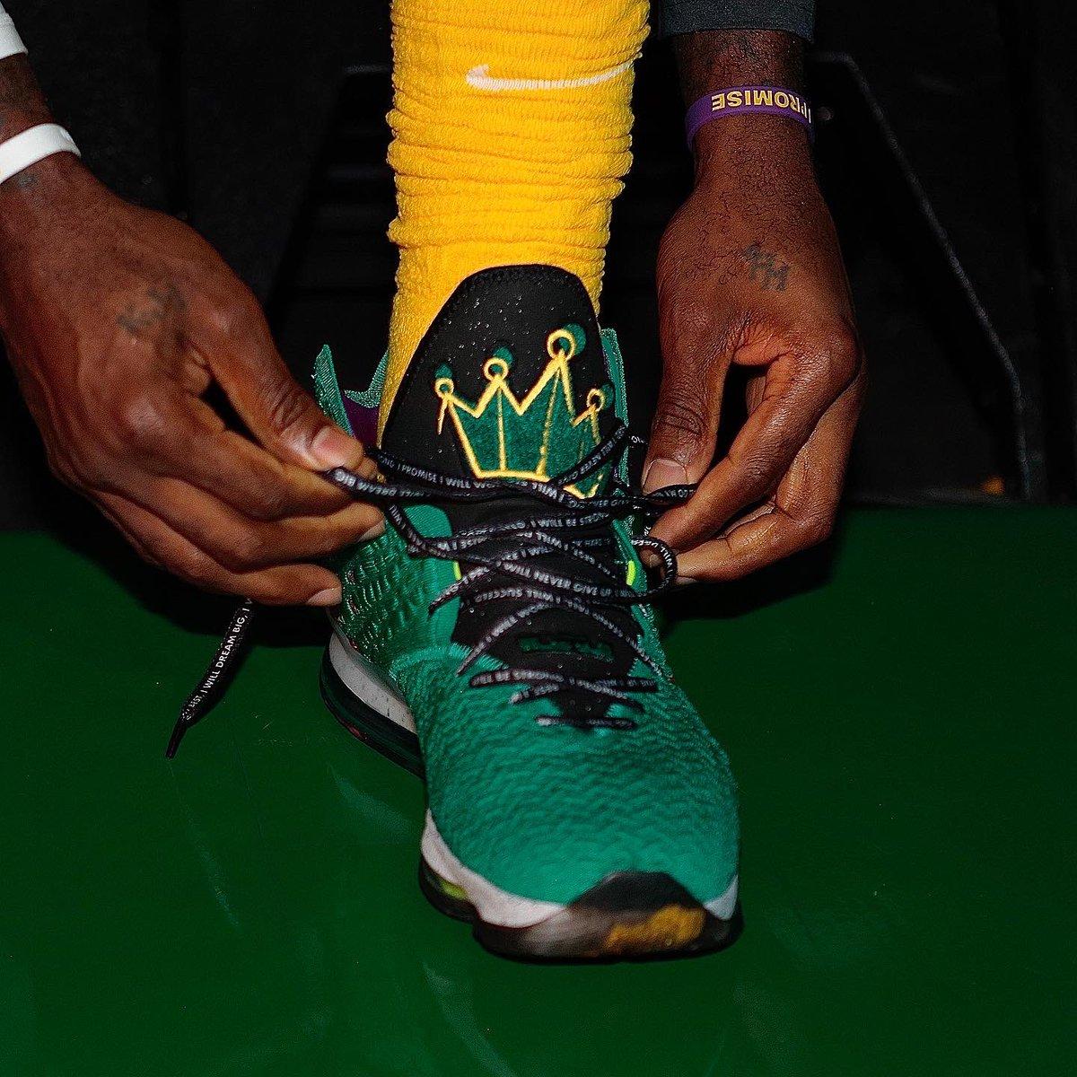 LeBron's Nike LeBron 17 in Boston!   #NBAKicks #LakeShow