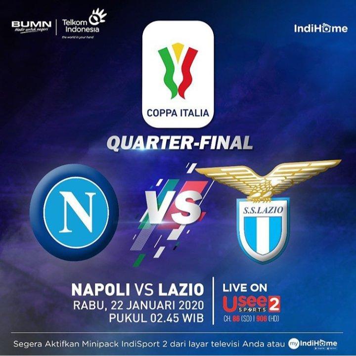 #CoppaItalia WED 22/01 02.45 WIB: Napoli vs Lazio & THU 23/01 02.45 WIB: Juventus vs Roma LIVE UseeSports 2 - Prediksi: https://www.instagram.com/p/B7iUtZFg8ns/?igshid=nza5ic73l3ou…