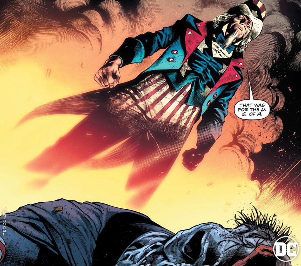 Uncle Sam has spoken. What did you think of FREEDOM FIGHTERS #12? <br>http://pic.twitter.com/ceVCj71meY