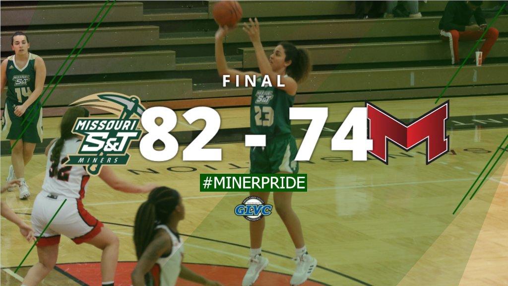 FINAL: @SandTWBB picks up the 82-74 win over Maryville! #MinerPride