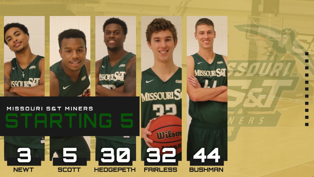 Here is tonight's starting five for @MST_MBB! #MinerPride