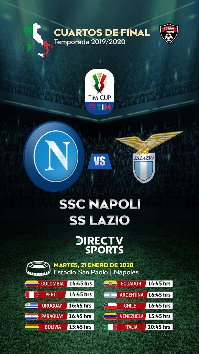 MARTES 📺▶#FutbolEnDIRECTV @sscnapoli 🆚 @OfficialSSLazio  Relata:🎙 @FDVENE Comenta:🎙 @fabig08  #CoppaItalia #FutbolItaliano ⚽🇮🇹🏆