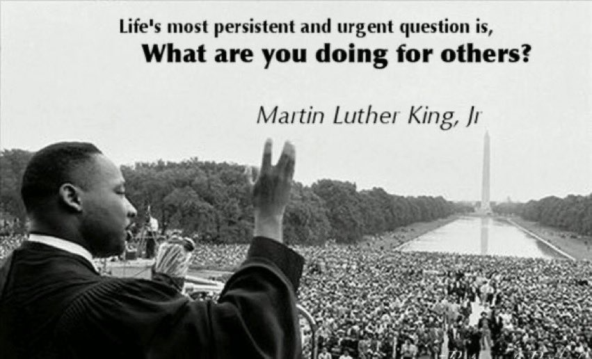 Today we celebrate his life and vision . #MLKDay