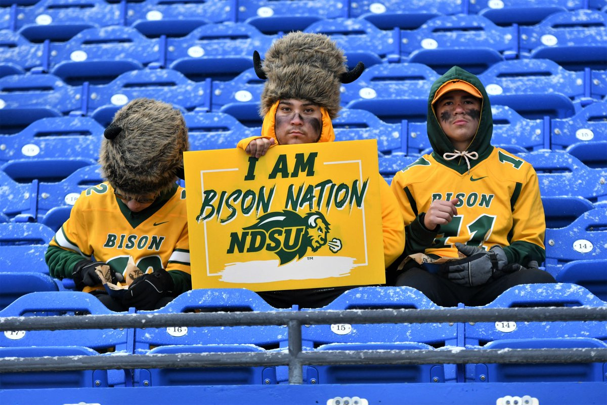 A little late in posting pictures but @NDSUfootball crowd never disappoints. @NCAA_FCS #fcschampionship