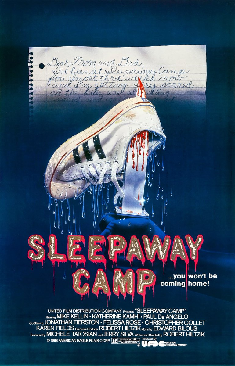 Sleepaway Camp is a 1983 cult classic slasher film written and directed by Robert Hiltzik. It is the first film in the Sleepaway Camp franchise, and tells the story of a young girl sent to a summer camp, where a series of murders begin shortly after her arrival.   #horror<br>http://pic.twitter.com/F71nsfjJgW