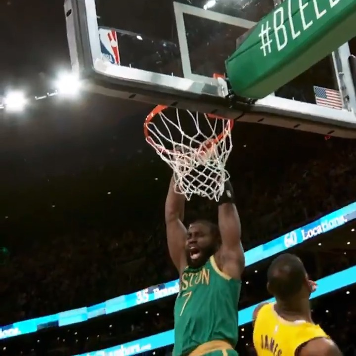 J.B. finishes strong with two hands in #PhantomCam! #Celtics