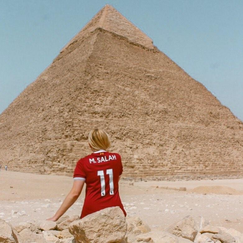 عاشقة #محمد_صلاح.. الأمريكية كيرى إليزابيث تزور مصر قريبا وقرية نجريجhttp://www.youm7.com/4596475