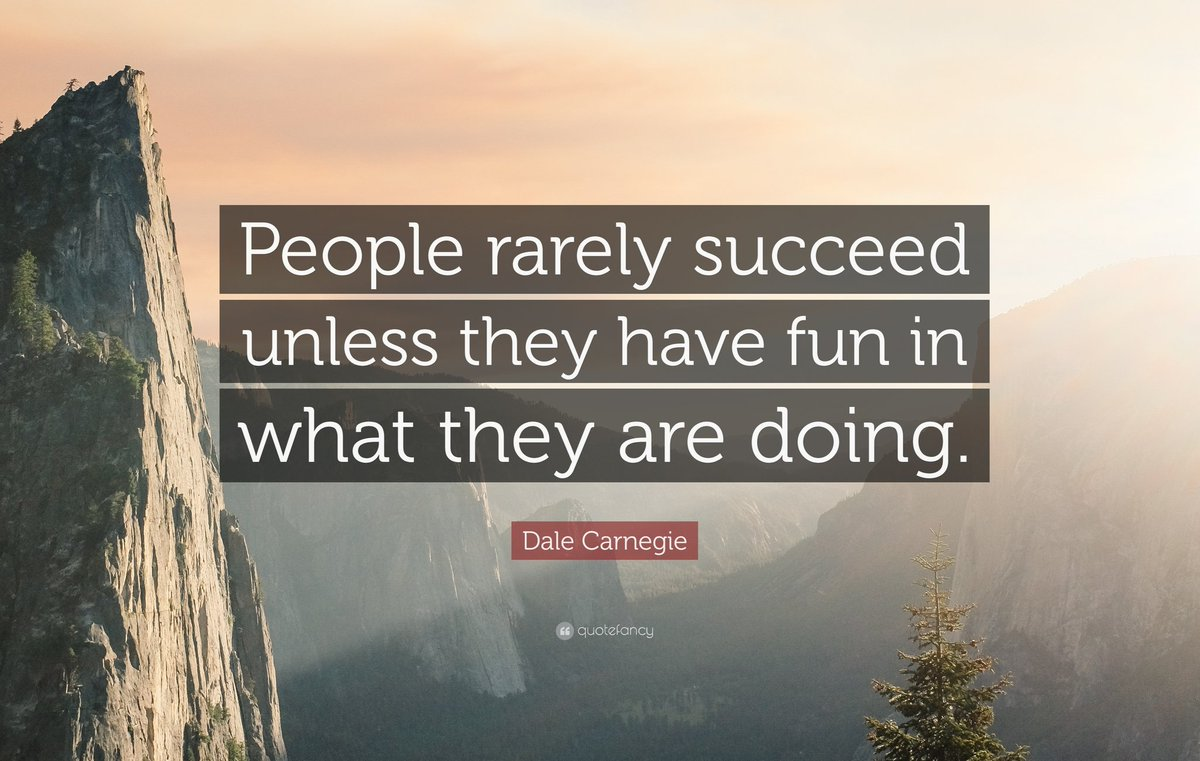 People rarely succeed unless they have fun in what they are doing.  #morningmotivation #TuesdayMotivation #TuesdayThoughts #entrepreneur #entrepreneurship #startups