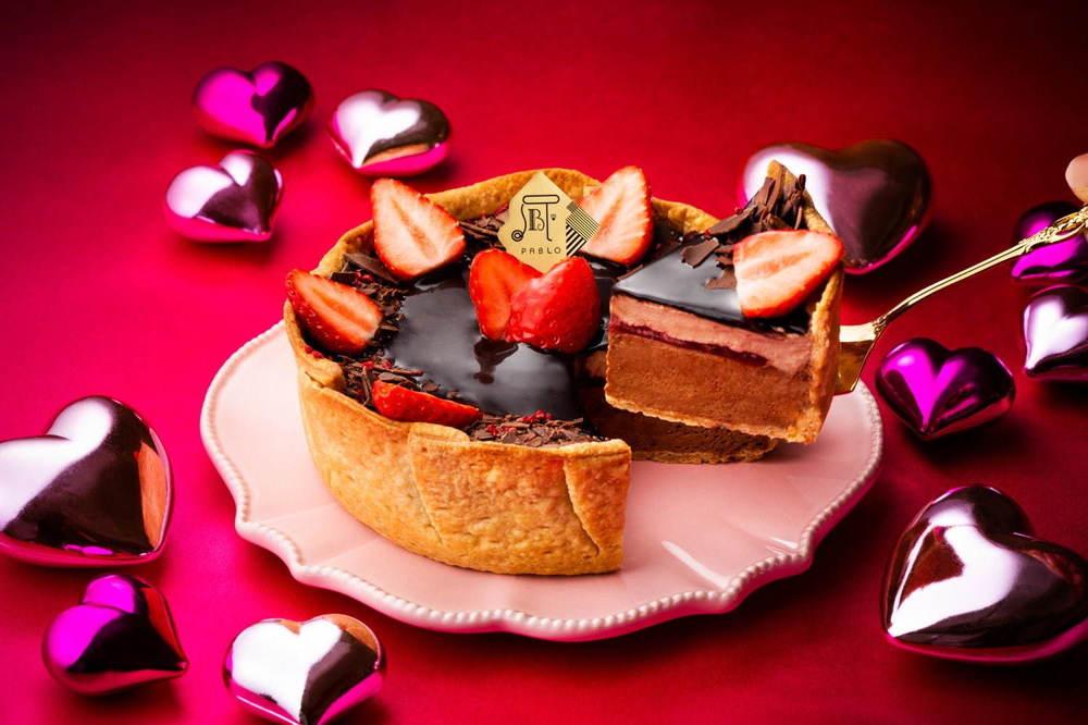 """パブロの期間限定""""いちご×フランボワーズ""""のチョコチーズタルト、4種のショコラを重ねて -"""