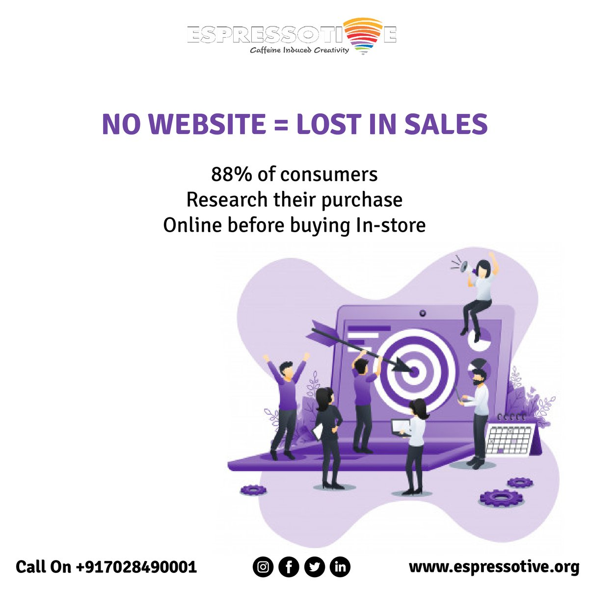 Websites attract the right kinds of visitors.  Bring your business online with #Espressotive Call us on +91 7028490001 Visit us at http://j.mp/2Xrvd10  #website #websitedevelopment #newwebsite #beonline #webdevelopment #business #newbusiness #businesslife #businesstipspic.twitter.com/puVlYbSPDt