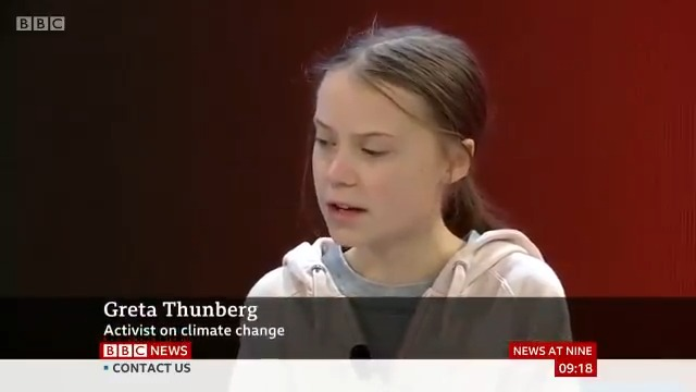 """Climate activist @GretaThunberg tells #Davos2020 that """"basically nothing"""" concrete has been done to tackle global CO2 emissions despite """"young people pushing"""" for change, adding """"this is just the very beginning""""  http://bbc.in/37eDYkr"""