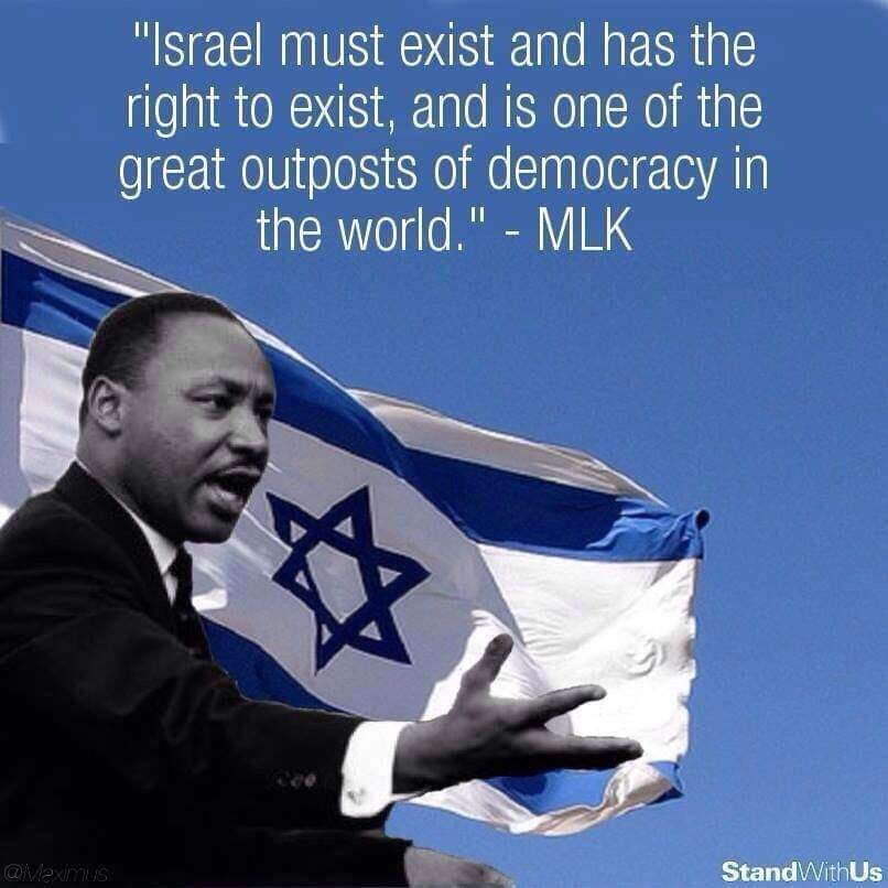 #MartinLutherKingJr  has a strong opinion about #Israel. Meme source: @StandWithUs <br>http://pic.twitter.com/ZzSnav0F2i