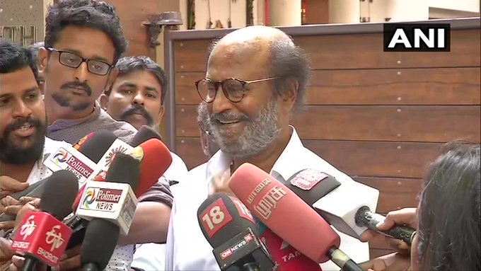 ANI quotes Rajinikanth on protests over his remarks on E.V. Ramasamy 'Periyar': I did not make up what I said, there are even published stories in media on it, I can show them. I will not apologize