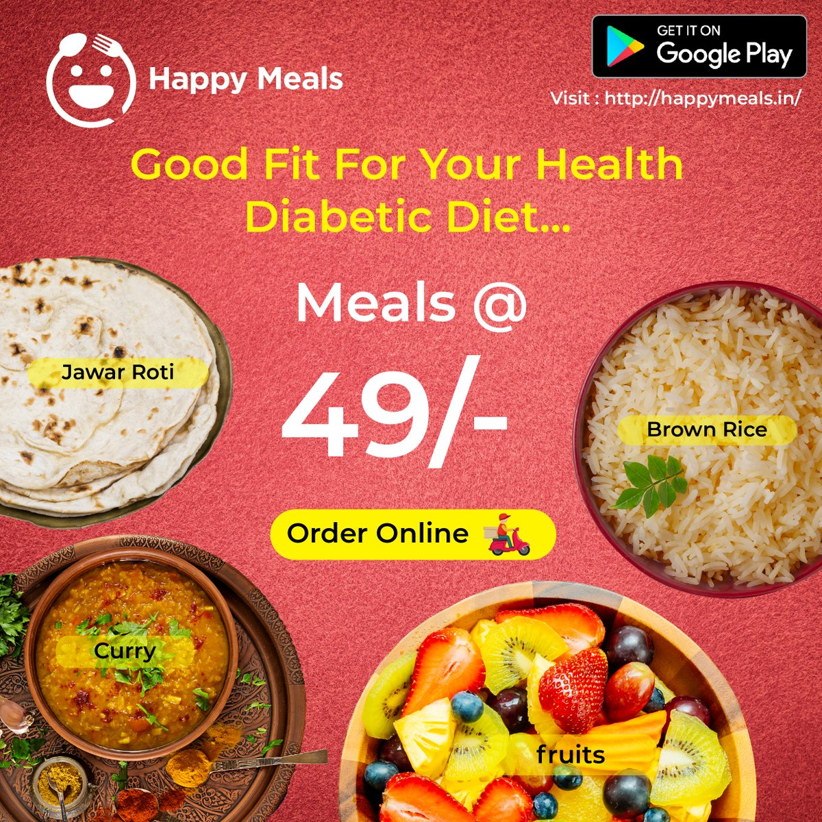 Fit food for your health. Meals starts from 49/- Get on a monthly subscription and free online delivery... For more details visit us  or call us 88856 66616 #fit #diet #hyderabad #health #meals #nutrition #pregnancy #diabatic #orderonline #TuesdayThoughts