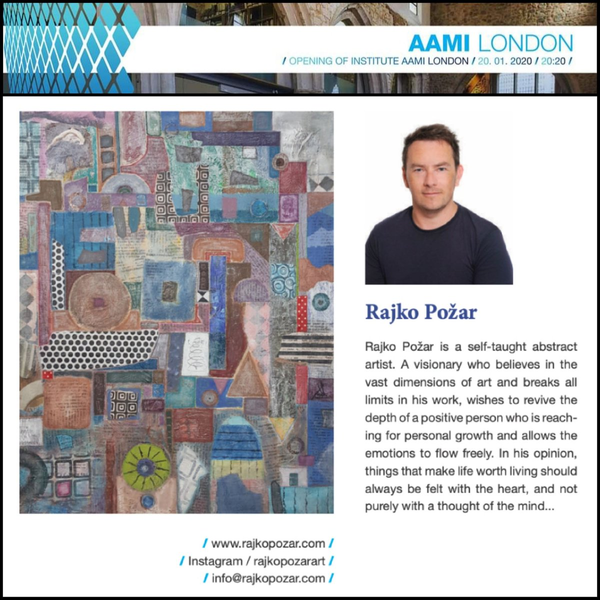 "http://www.rajkopozar.com  NEW EXHIBITION IN AAMI LONDON GALLERY January 20th 2020 at 20.20. I'm so happy and grateful that they represent me and my artwork in AAMI London Gallery  Name of artwork ""Puerto Princesa"" #rajkopožar #aami #btc #btccity  #value #toserve #london#londonpic.twitter.com/USGp461Pon"