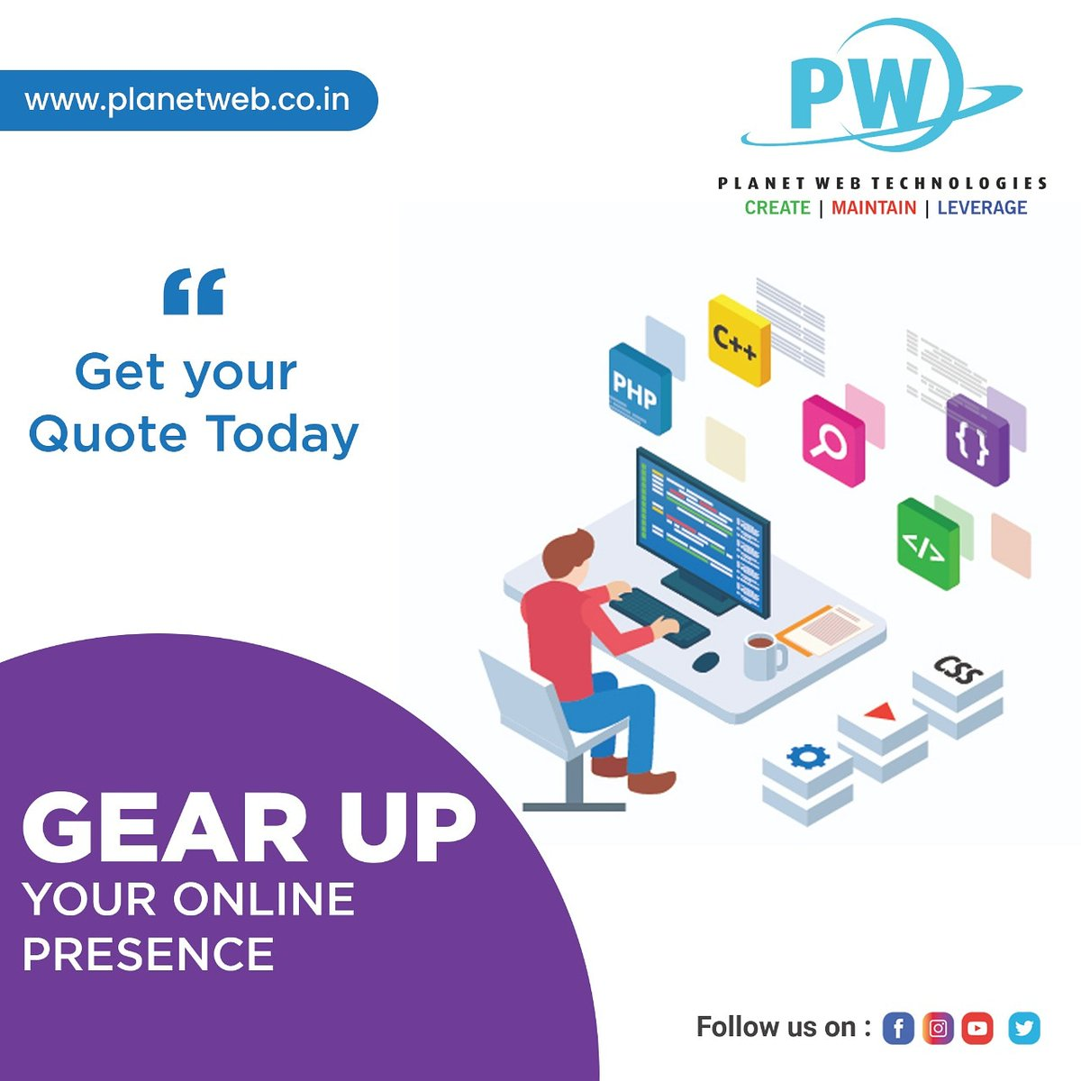 Gear up your online presence by our services by experienced developers.  #services #websitedevelopment #webdevelopment #digital #smm #bulksms #websitepic.twitter.com/XCqKhZQJ40