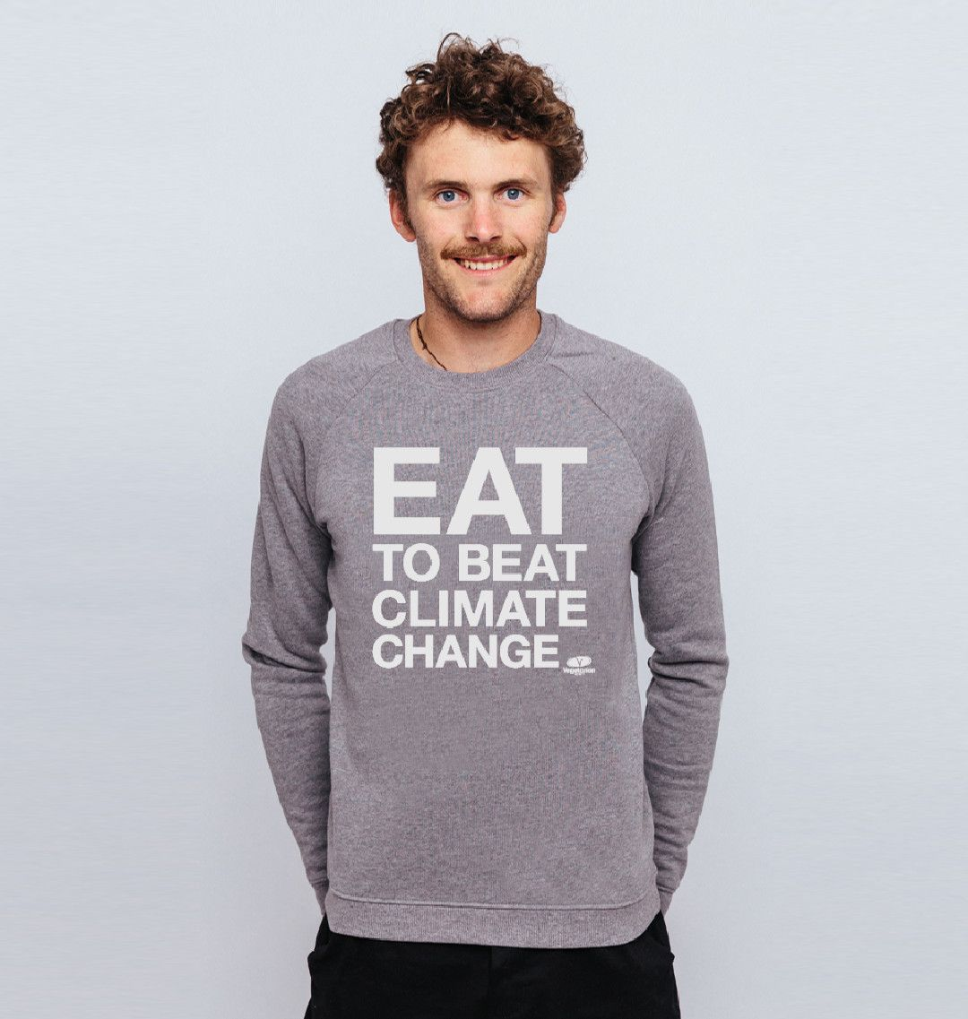 Stay warm in the cold weather and make a statement at the same time! Buy your #EatToBeatClimateChange jumper here: