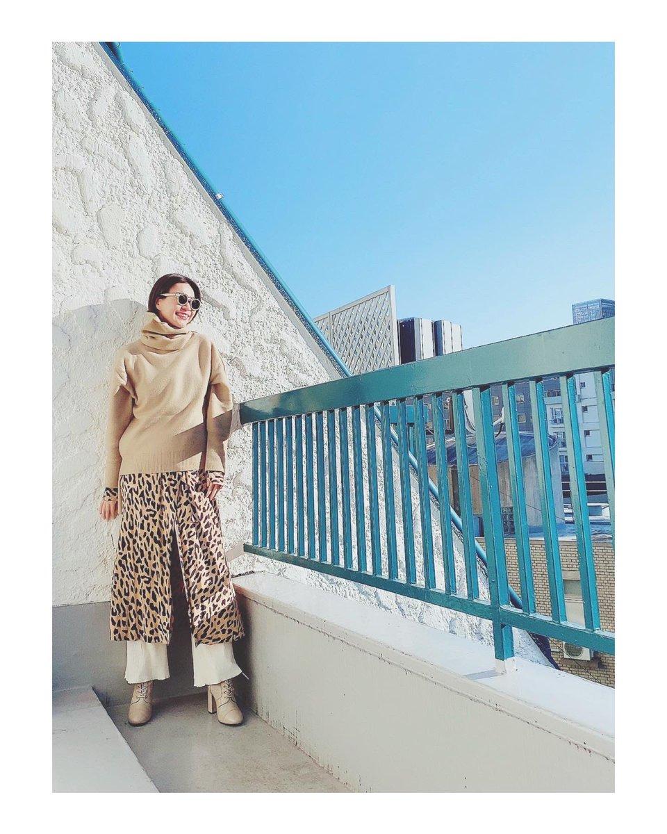 私なりの #ベージュコーデ は #レオパード ミックス😋#todaysoutfit #ootd 3cut📸 お洋服はタグ🏷付けしてますっ♥️  ・ #enasstyle #fashionista #outfit #streetstyle #大人コーデ #cordinate #mylook #fashionaddict #mystyle