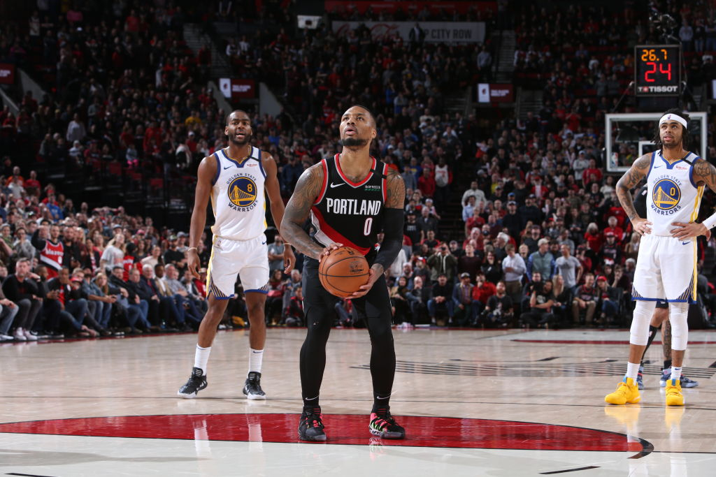 Damian Lillard joined James Harden, Tracy McGrady, David Robinson and Michael Jordan as the only players with at least 60 points, 10 rebounds and 5 assists in a game since 1976-77.