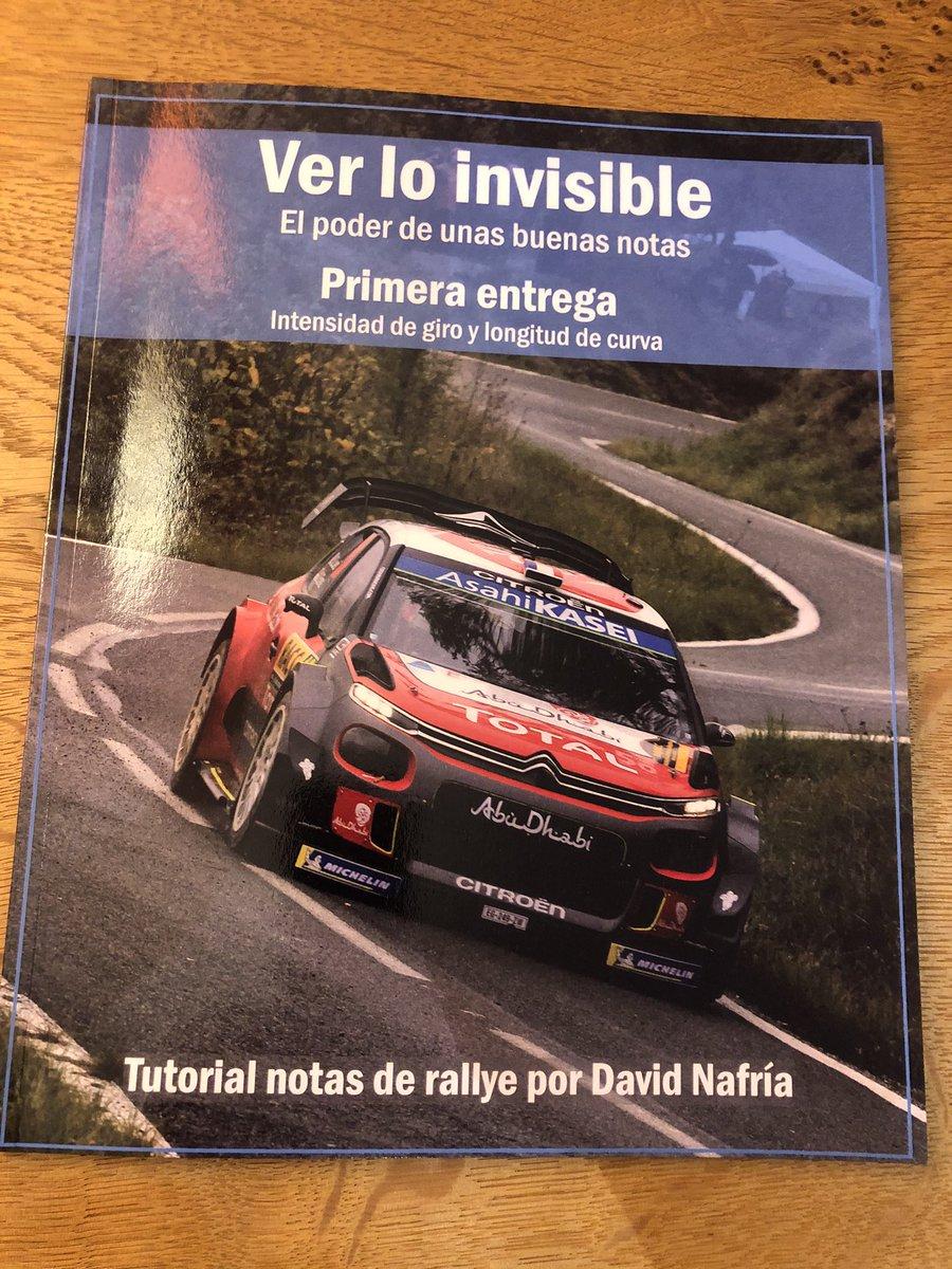 Muy orgulloso de colaborar con @davidnafria y representar un oficio tan bonito como es ser copiloto de Rallyes. Y como el saber no tiene lugar, todos los pilotos deberíais leerlo..