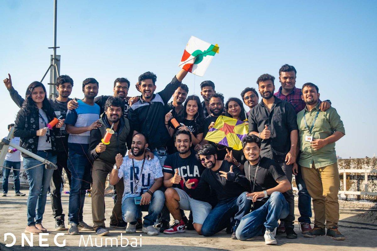 In celebration of Makar Sankranti, last week our Mumbai studio participated in the traditional activity of flying kites! #Mumbai #VFX #MakarSankranti