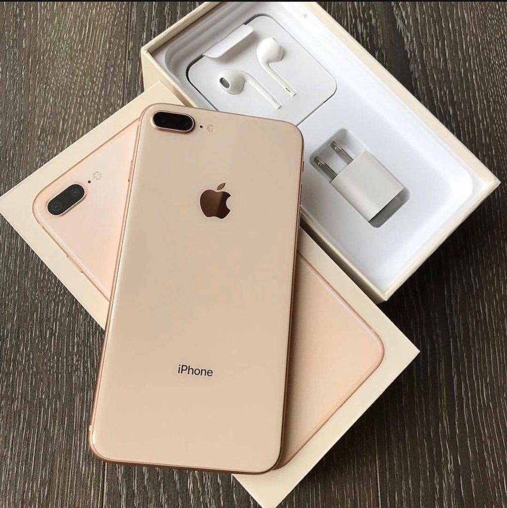 iphone 8+ GB 64 price 1,250,000/= FULL BoXED & SEALED🔥 Warrante ya mwaka mzima💥 Duka Lipo Makumbusho OPP na safina Hotel call☎️0782417435 kwa Mahitaji ya Simu za iphone, Samsung BrandNew Nicheki. karibu tukuhudumie🙇🏻♂️