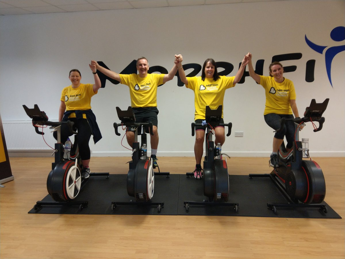 This time last week we were getting ready to start the 24 hour cycle relay 😁🚲 Total raised should be in by end of week @Beatson_Charity @KennethMuir7 @wattbike @SMilneHomes 💛 #HamiltonToKrakow