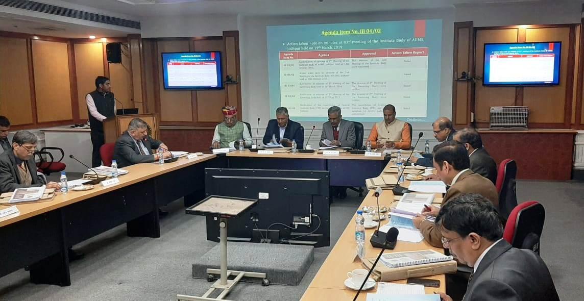 आज नई दिल्ली में अखिल भारतीय आयुर्विज्ञान संस्थान (एम्स) जोधपुर की महत्वपूर्ण इंस्टीट्युट बाॅडी की बैठक भाग लिया एवं कई महत्वपूर्ण बिंदुओं पर चर्चा की। #AIIMS