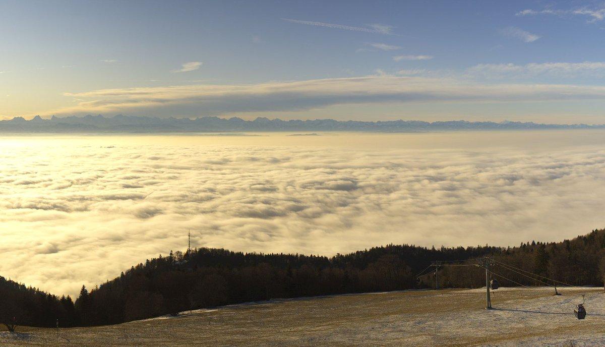 Jetzt über dem #Nebelmeer auf dem https://www.hotelweissenstein.ch @VisitSolothurn @Jura3Lacs Herrlicher #SchweizerWinter!pic.twitter.com/nPTzHFDhX9