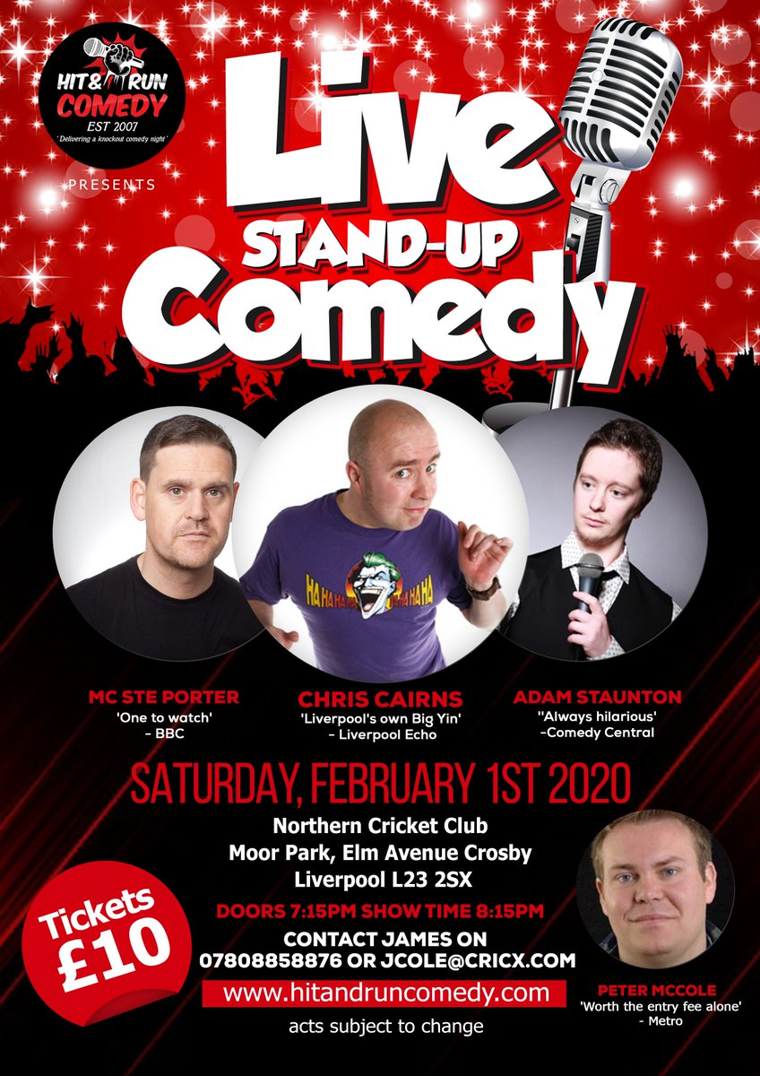 EVENT TIMEThe time is getting closer, we are almost done with January - Lets get February off to a great start with a night of @HitAndRunComedy ! Give @JimmyCole1 a shout or head to the club and put your name on the board - You don't want to miss this night! #comedynight pic.twitter.com/E7DMxrf5qq