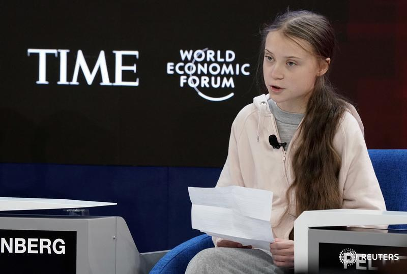 Climate activist @GretaThunberg calls on world leaders to listen to young activists #reutersdavos #wef20 #wef2020 https://reut.rs/2uj7Bmh