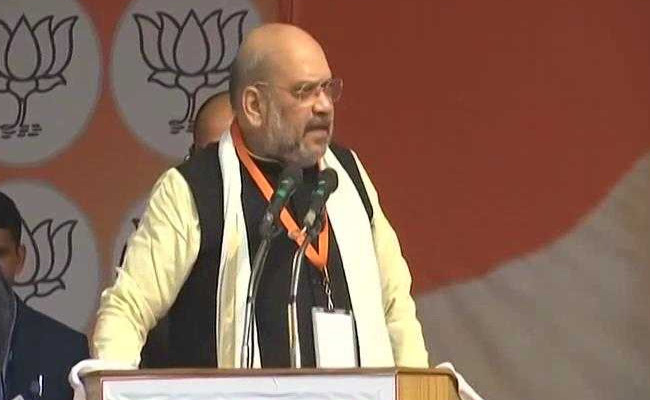 """""""You can abuse us, our party as much as you want. But those who raise anti-national slogans in the country will be put in jail"""": Amit Shah in Lucknow."""
