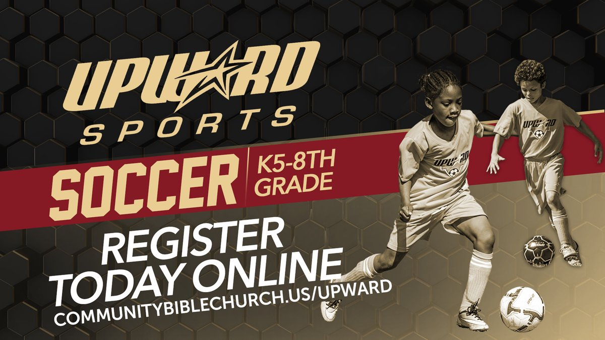 Registration is OPEN! Sign up your child(ren) for the 2020 Upward Soccer season athttp://www.communitybiblechurch.us/upward!  @cbcbft  #cbcbft #communitybiblechurchbeaufort #upward #UpwardSports #soccer #playwithpurpose #360progression #playsoccer #soccerskills #soccer#soccerball #soccertime pic.twitter.com/Hxp4bNiswe