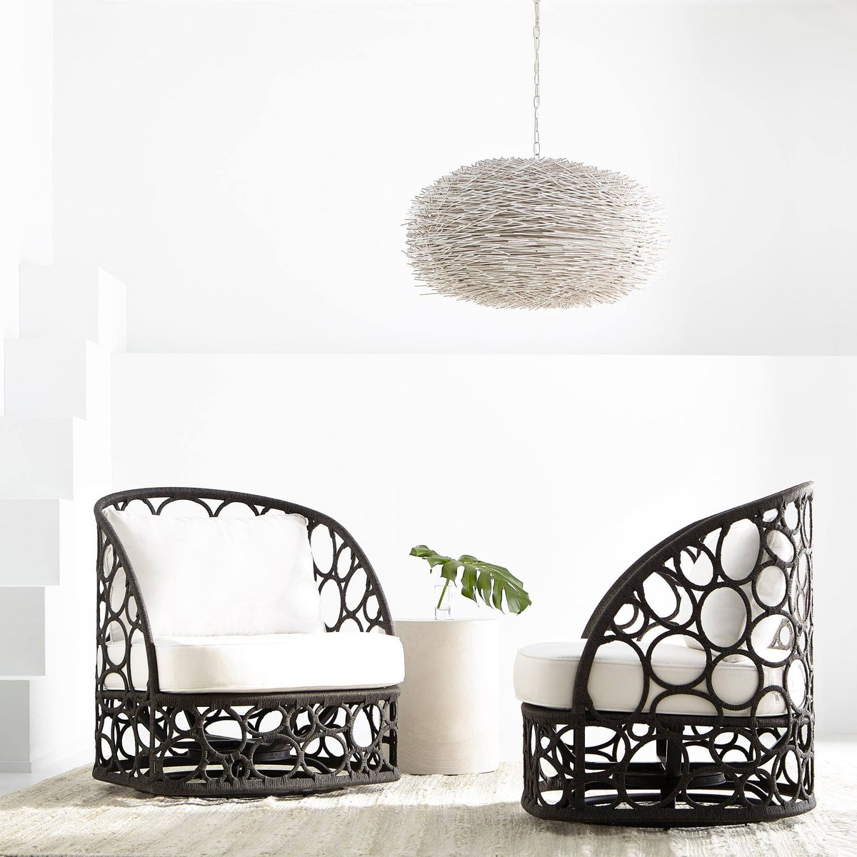 Encircling beauty. Our Bali Swivel Chair - in laser-cut aluminum wrapped w performance wicker - is part of Bernhardt Exteriors, available in spring. Learn more about Bernhardt Exteriors here: https://info.bernhardt.com/bernhardt-exteriors… #outdoorfurniture #hpmkt #interiordesign #exteriordesign pic.twitter.com/BhcTvvzz0t