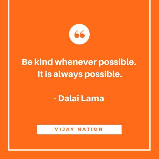 Be kind whenever possible. It is always possible.   - Dalai Lama #quote #BeKind <br>http://pic.twitter.com/BJEgOzieDJ
