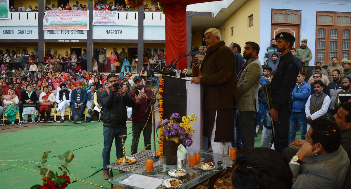Union Minister for Jal Shakti, Gajendra Singh Shekhawat  said that the message of PM, Narendra Modi was getting delivered among the masses through the team of central ministers who is visiting across the length & breadth of the UT of J&K in a Public Outreach Programme at Kathua.