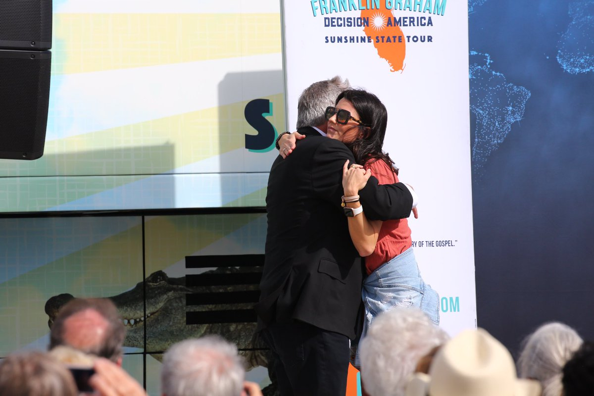 In honor of #NationalHugDay. There is no prouder daughter! Love my dad, @Franklin_Graham