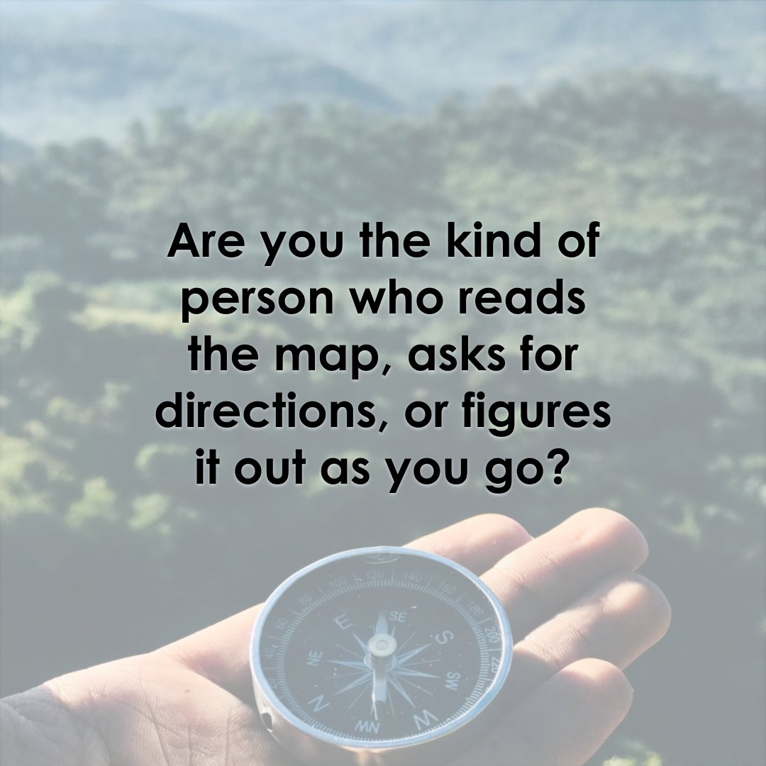 Are you the kind of person that reads the map, asks for directions, or figures it out as you go?  #becurious #whoareyou<br>http://pic.twitter.com/Va9naVcsFN