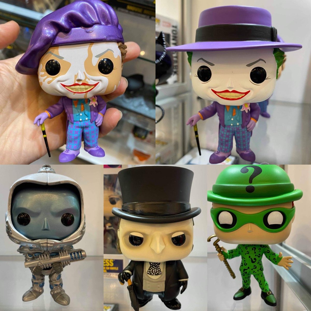 Closer look at more the DC Pops including the Joker chase! . Credit @doubleboxedtoys<br>http://pic.twitter.com/2664oYD6w2