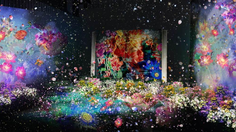 日本橋で「フラワーズバイネイキッド 2020 ー桜ー」村松亮太郎×レスリー・キーのコラボ作品も -
