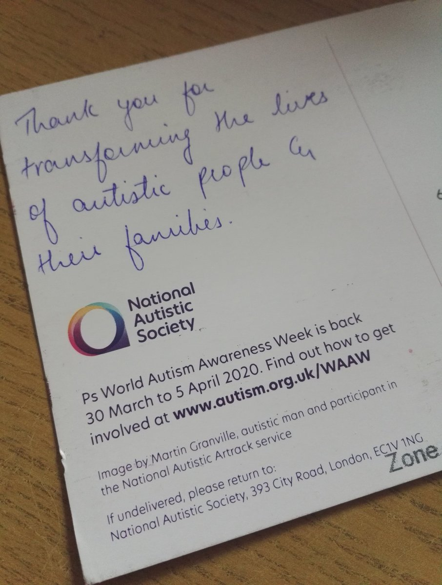 @Autism Just received one in the post! Lovely thought, thank you! :)