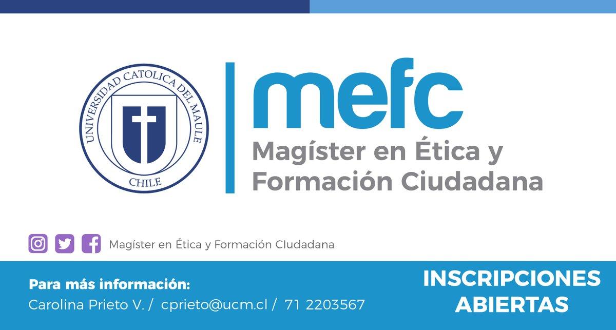 Magíster en Ética y Formación Ciudadana @ucatolicamaule  Segunda convocatoria : Hasta el 6 de marzo 2020. ¡Te esperamos!pic.twitter.com/Z1VALBas7X